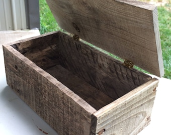 Handmade Reclaimed Pallet Wood Box with Lid