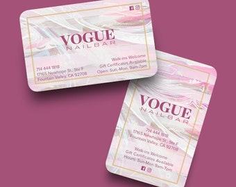Luxury Nail Bar Business Card! Mobile Manicurist! Independent Freelancer!