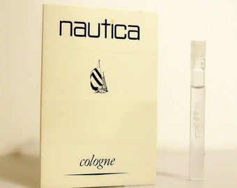 Vintage 1990s Nautica for Men by Nautica 0.03 oz Cologne Sample on Card