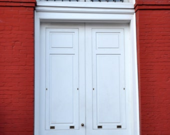 White Door and Red Walls