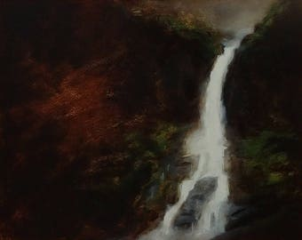 waterfall - original oil painting