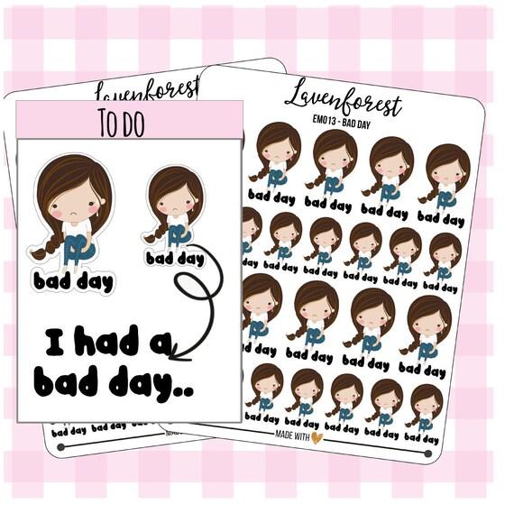 Bad Planner bad day planner sticker emoji sticker stickers bad day