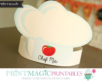 Chef Hat Printable Etsy