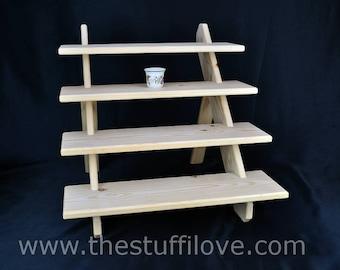 4 Tier Standard Portable Riser Craft fair Display Shelving Stand.