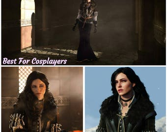 Yennefer Cosplay Costume, The Witcher 3: Wild Hunt Cosplay, Halloween costume, Cosplay Costume,Handmade Costume, Black,  Witcher Cosplay,Yen