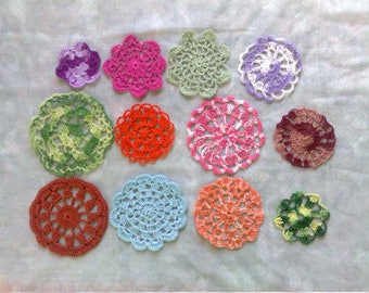 Mother's Day gift 12 pieces crochet Doilies in different crochet patterns