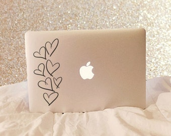 Open Hearts, Laptop Stickers, Laptop Decal, Macbook Decal, Car Decal, Vinyl Decal