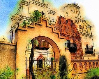 Mission San Xavier del Bac: Photographic Art of the Famous Tuscon, Arizona Catholic Mission