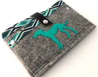 Greyhound Wool Clutch - Phone Wallet - Greyhound - Greyhound Bag - Dog - Galgo - Whippet - Italian Greyhound - Dog Wallet - Dog Lover