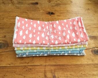 Large Burp Cloths, Baby Burp Cloth, Clouds Burp Cloths, Burp Cloths Bundle, New Baby Gift, Baby Shower Gift