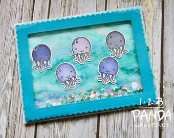 Jelly Fish Shaker Card
