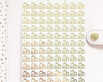 Foil Shopping Bag Stickers | Planner Stickers