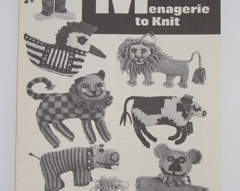 MOD MENAGERIE to Knit and Christmas Tree Decorations to knit, two vintage booklets.