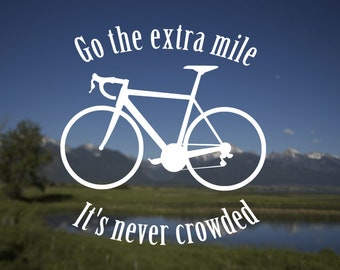 Go the Extra Mile decal