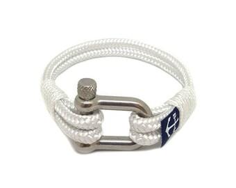 White Bracelet,Rope Jewelry, Navy Bracelet , Shackle Jewellery, Nautical Bracelet, Beach Bracelet, Unisex Bracelet, For Her, For Him