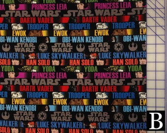 Star Wars Fabric — Star Wars Original Trilogy series from Camelot (12 Options)