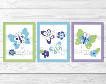 Butterfly Nursery Wall Art / Butterfly Nursery Wall Art / Beautiful Butterfly / Purple Butterfly / Baby Girl PRINTABLE Instant Download A231