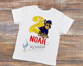 Paw Patrol (Marshall, Rubble, Chase, Rocky, Zuma and Skye) Birthday T-Shirt