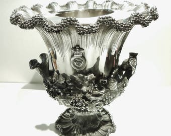 Antique English Victorian Silver Plated,Wine Cooler, by Elkington and Company