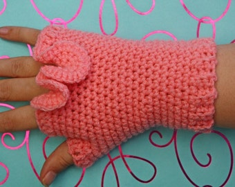 PATTERN - Crochet Under the Sea Fingerless Gloves - Free International Shipping