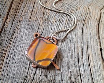 Continuity necklace - art glass