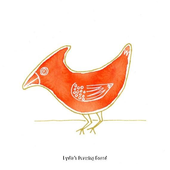 Red Bird, Cardinal, Cardinal Bird, Red Cardinal, Bird, Bird Art, Nature Art Print, Bird Art Print, Bird Artwork, Bird Wall Art, Bird Decor