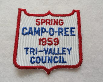 Spring 1959 Camp-O-Ree Scouting  Patch - FREE Shipping