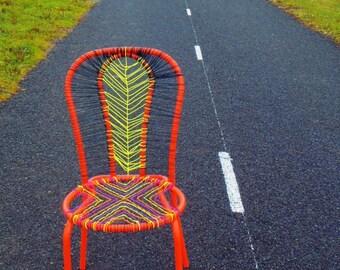 Chair, design piece, MASSAI WARRIOR -- Decorative chair, art piece by SophieLDesign