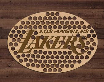 Los Angeles Lakers Beer Bottle Cap Holder USA Laser Engraved Boyfriend Basketball Gift for Him, Gift for Dad, Groomsmen gift, Christmas Gift