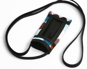 Fabric Cell Phone Pouch, Smart Phone Cross Body Bag, Sling Bag, Women's Accessories, Cell Phone Purse, Mini Cross Body Bag, Argyle, Purse