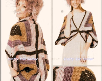 Crochet Large Granny Square Shrug - Made to Order