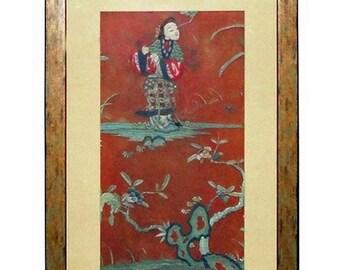April30plusOFF Vintage Hand Embroidery Framed Wall Decor vs134E