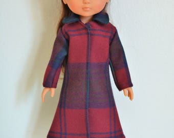 "Handmade Doll Clothes Coat fits 13"" Corolle Les Cheries Dolls Christmas C"