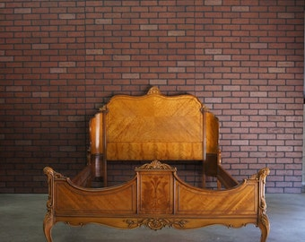 French Provincial Full Bed / Double Bed / Vintage Bed
