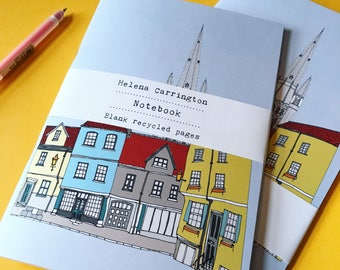 Norwich Notebook - A5 Notebook - Eco Paper - Norwich Print - Recycled Paper - Norwich Cityscape - Norwich Journal - Sketchbook