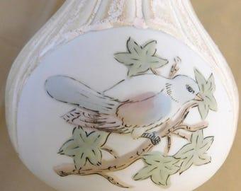 "INARCO Blue Bird Vase 11.5"" , Made in Spain, mid-century"