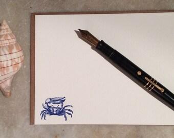 Fiddler Crab Flat Correspondence cards- set of 6