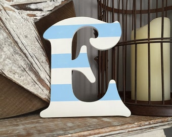 Wooden Wall Letter - Hand-Painted - Victorian Font - E, Various colours and finishes available