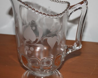 Early American Pressed Glass Pitcher