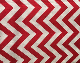 "Half Moon Modern 1/2"" inch  Zig Zag Chevron RED Moda 100% Cotton Quilt Fabric by the 1/2 yard #32216 15"