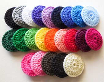 Nylon Dish Scrubbies - Choose Your Own Colors - Set of 4 - Crochet Pot Scrubber