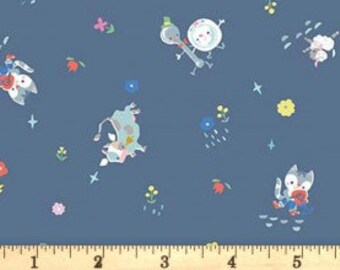 Once Upon a Rhyme - C8023 Blue - 1/2yd
