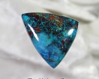 Peruvian Chrysocolla/Azurite/Malachite/Copper Designer Cut Cabochon