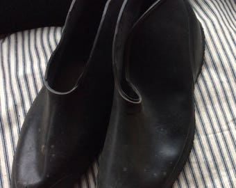 RUBBER OVERSHOES VINTAGE footwear, usa made, rainwear