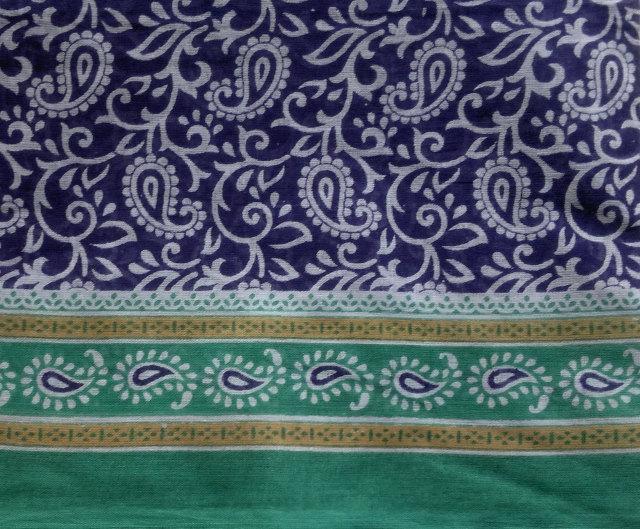 Paisley Cotton Fabric Floral Block Print Indian Lightweight