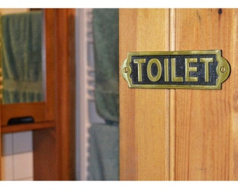 Toilet Sign Solid Brass