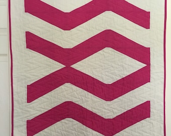 Girl Cot /Crib Quilt   pink and Cream Baby Quilt   Handmade Baby Quilt   Tubby Time Quilt