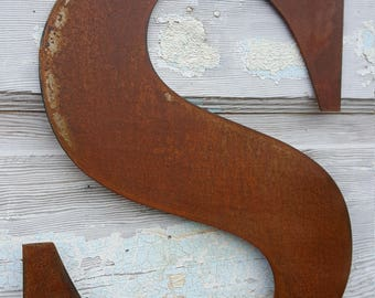 """24"""" Metal Letters & Numbers, Large Monograms, Rustic Letters, Rusted Metal, Farmhouse Decor, Fixer Upper Style, Shabby Chic, Home Decor"""