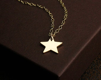 Lone star jewelry gold star necklace star charm necklace gold star texas necklace star necklace make a wish gold star jewelry star charm