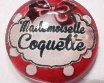 25mm cabochon mademoiselle coquette rouge
